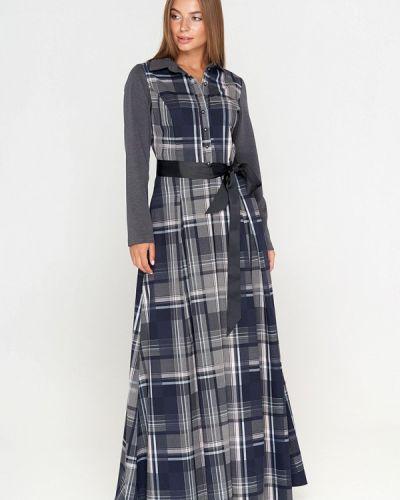 Повседневное платье осеннее серое Sellin