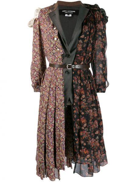 Шерстяной серый пиджак на пуговицах Junya Watanabe