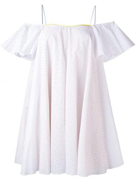 Платье с вышивкой - белое Anna October