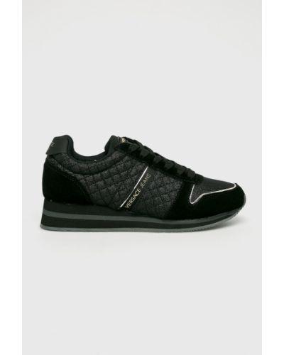 Черные джинсы на шнуровке Versace Jeans