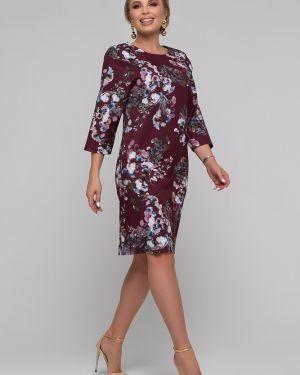Свободное нарядное с рукавами платье миди Петербургский Швейный Дом
