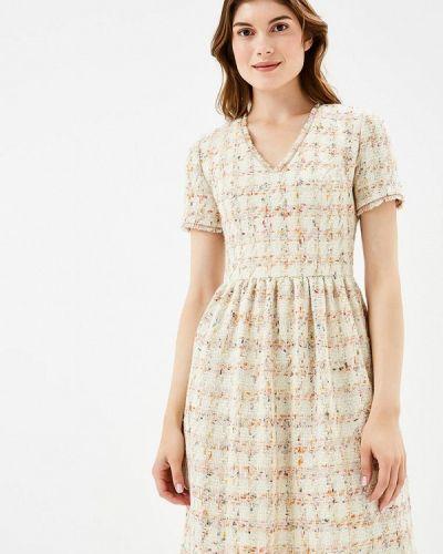 Платье осеннее бежевое Laroom