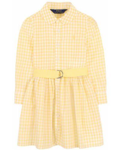 Платье макси с вышивкой платье-рубашка Polo Ralph Lauren