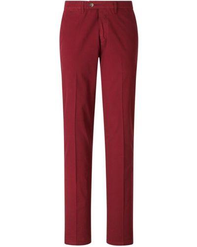 Czerwone klasyczne spodnie Canali