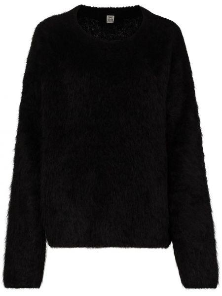 Puszysty czarny sweter z alpaki Toteme