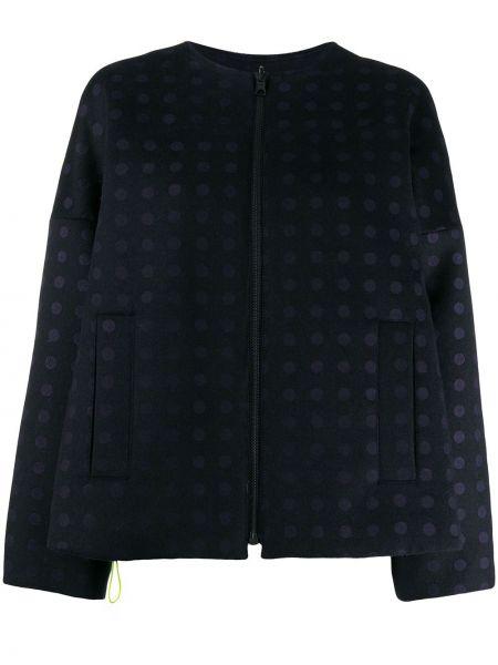Синяя длинная куртка круглая Rohka