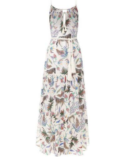 Платье с поясом футляр шелковое Lazul