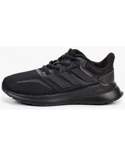 Черные кожаные кроссовки Adidas