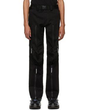 Черные прямые брюки с поясом из габардина новогодние 99% Is