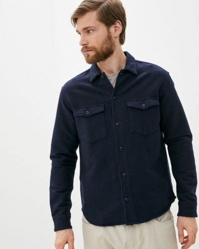 Синяя рубашка с длинными рукавами Selected Homme