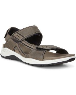 Серые кожаные сандалии с подкладкой Ecco