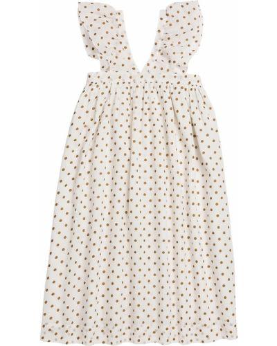 Платье хлопковое с принтом Bonpoint