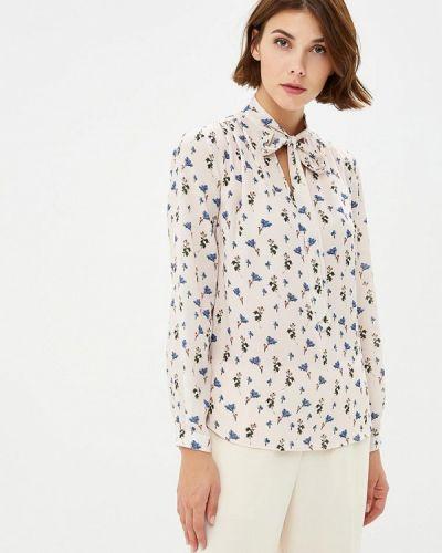 Бежевая блузка с длинным рукавом Adl