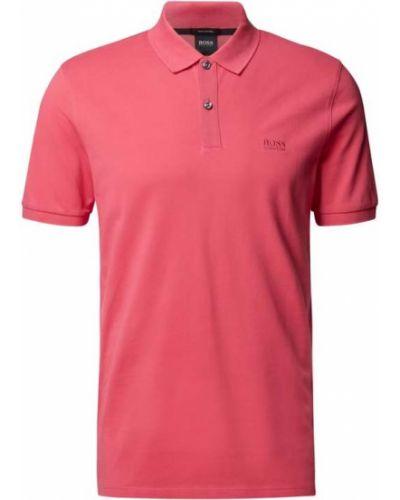 Różowy t-shirt bawełniany Boss
