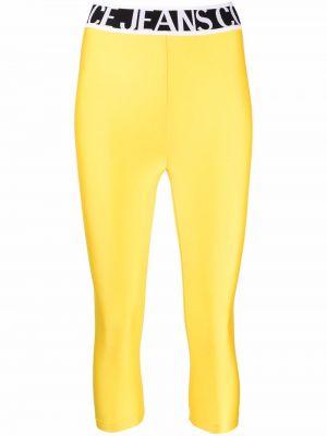 Legginsy - żółte Versace Jeans Couture