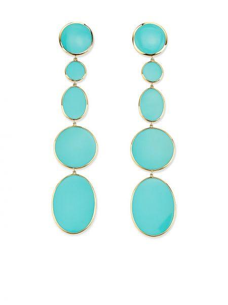 Синие золотые серьги Ippolita