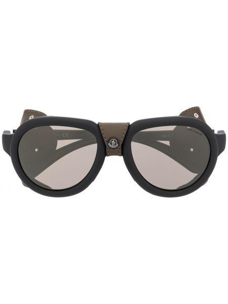 Черные солнцезащитные очки с завязками Moncler Eyewear