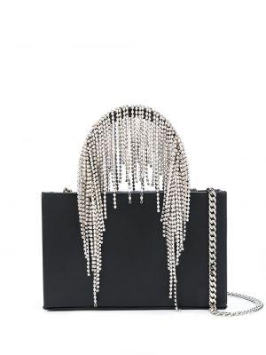 Skórzana torebka na ramię czarna Kara