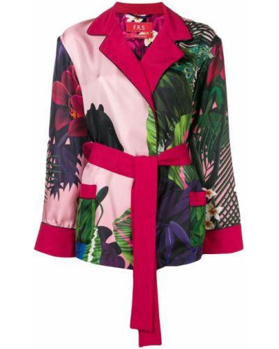Прямой розовый удлиненный пиджак F.r.s For Restless Sleepers