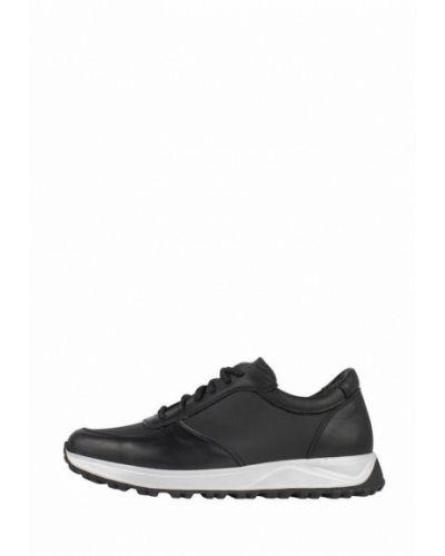 Кожаные кроссовки - черные Zlett