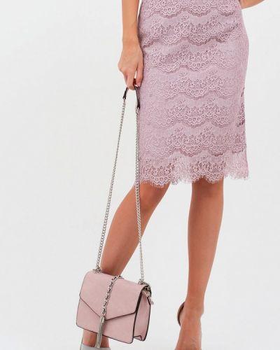 Розовая зимняя юбка Lussotico