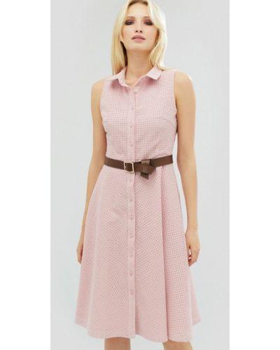 Повседневное платье весеннее розовое Cardo