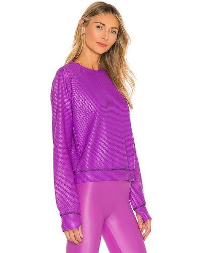 Fioletowy pulower perforowany z ozdobnym wykończeniem Koral