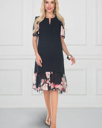 Комбинированное шифоновое летнее платье со вставками на торжество Bellovera