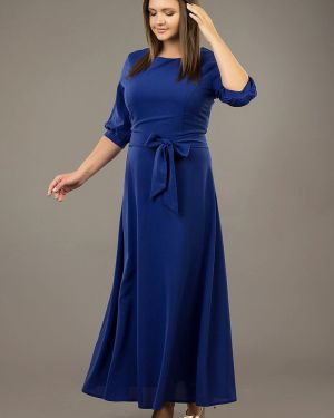 Вечернее платье с поясом платье-сарафан ангелика