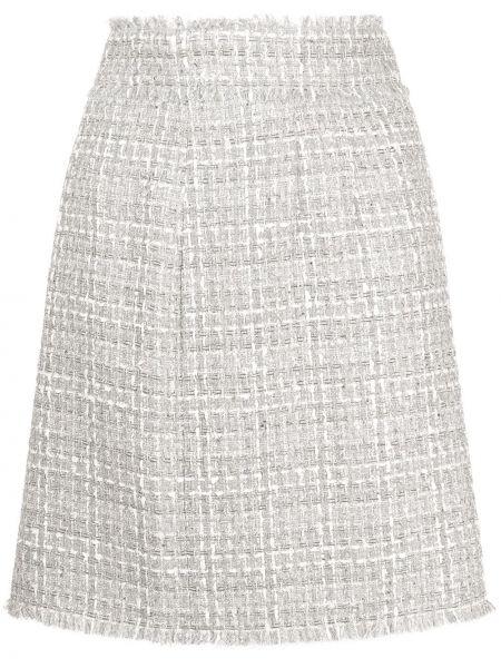 Серая юбка твидовая стрейч Dolce & Gabbana