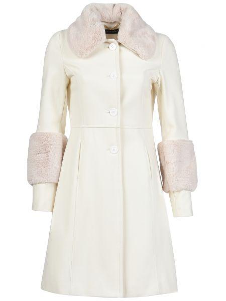 Шерстяное пальто - белое Mangano