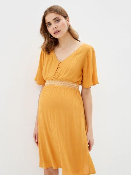 Платье для беременных прямое желтый Mama.licious