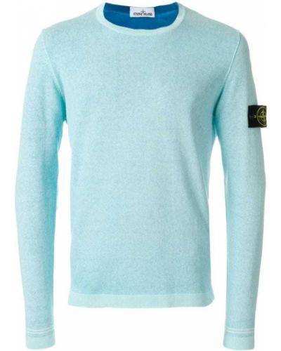 Синий свитер облегающий Stone Island