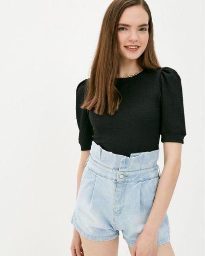 Черная блузка с короткими рукавами Ovs