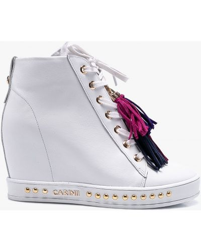 Сапоги на шнуровке с шипами Carinii