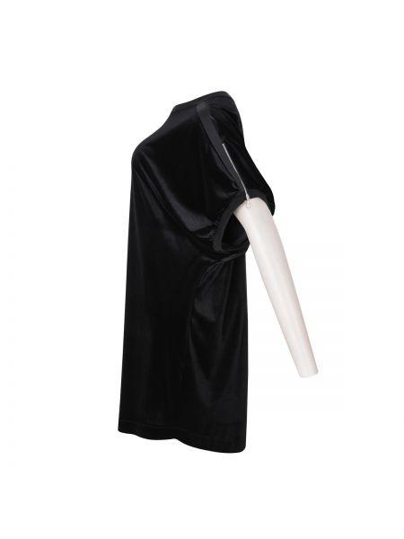 Черная велюровая туника с длинными рукавами летучая мышь мембранная Mat Fashion