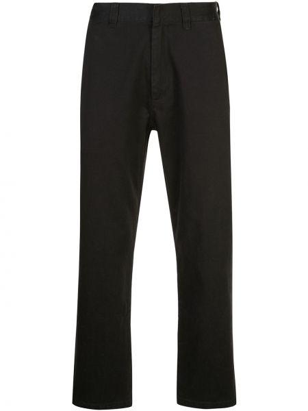 Bawełna spodni czarny spodnie o prostym kroju z kieszeniami Supreme