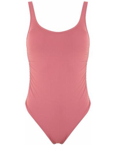Открытый розовый купальник с открытой спиной с подкладкой Amir Slama