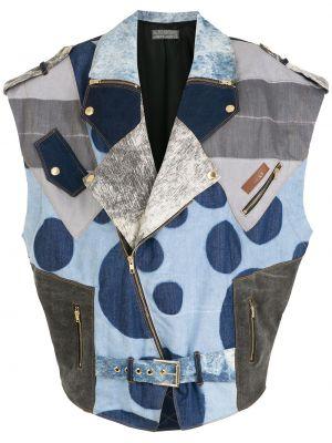 Синяя куртка с воротником Amapô