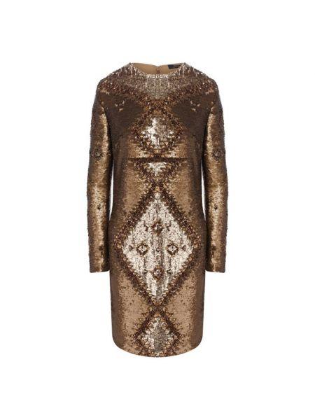 Платье с пайетками с вышивкой Polo Ralph Lauren