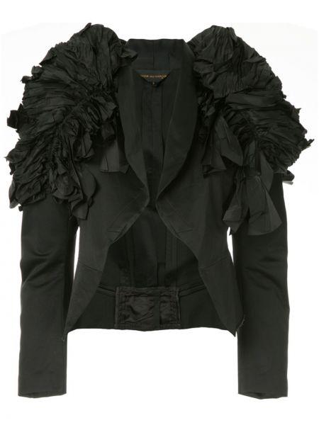 Черный пиджак винтажный с лацканами из вискозы Comme Des Garçons Pre-owned