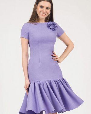 Платье миди фиолетовый оливковый Olivegrey