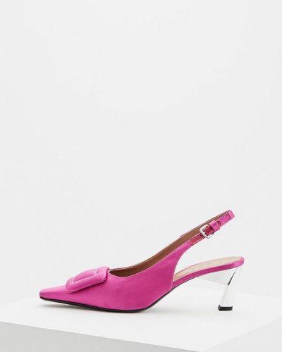 Кожаные туфли осенние с открытыми боками Marni