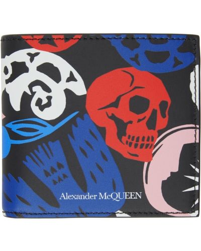 Portfel skórzany - biały Alexander Mcqueen