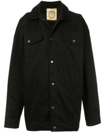 Черная джинсовая куртка оверсайз прозрачная Astrid Andersen