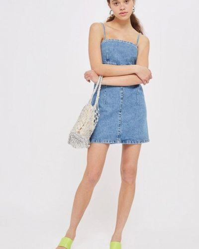 Голубое джинсовое платье Topshop