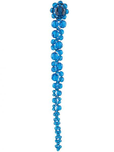 Синие серебряные серьги с подвесками Simone Rocha