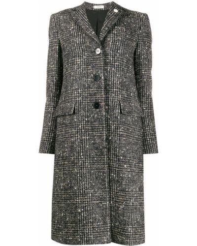 Однобортное коралловое шерстяное длинное пальто с воротником Lardini