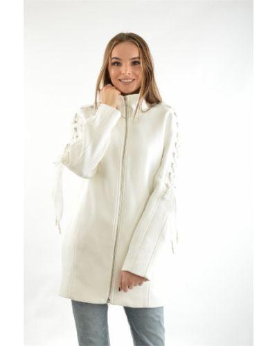 Пальто из вискозы - белое Guess