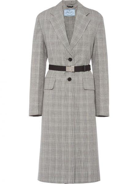 Długi płaszcz klasyczny z kieszeniami Prada